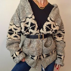 Vintage Authentic Cowichan Chunky Wool Sweater